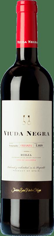 9,95 € Envoi gratuit | Vin rouge San Pedro Ortega Viuda Negra Crianza D.O.Ca. Rioja La Rioja Espagne Tempranillo Bouteille 75 cl