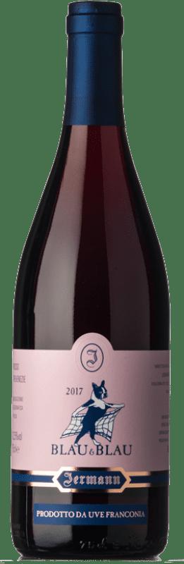 24,95 € Envío gratis | Vino tinto Jermann Blau & Blau I.G.T. Friuli-Venezia Giulia Friuli-Venezia Giulia Italia Pinot Negro, Blaufrankisch Botella 75 cl
