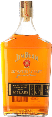 24,95 € Free Shipping | Bourbon Jim Beam Signature Craft 12 Years Kentucky United States Bottle 70 cl