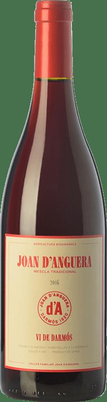7,95 € Envío gratis | Vino tinto Joan d'Anguera Vi de Darmós Joven D.O. Montsant Cataluña España Syrah, Garnacha, Cabernet Sauvignon Botella 75 cl