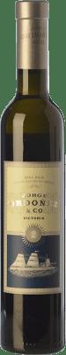 16,95 € Envío gratis | Vino dulce Jorge Ordóñez Nº 2 Victoria D.O. Sierras de Málaga Andalucía España Moscatel de Alejandría Media Botella 37 cl