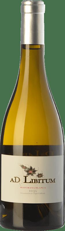 13,95 € Envío gratis | Vino blanco Sancha Ad Libitum Crianza D.O.Ca. Rioja La Rioja España Maturana Blanca Botella 75 cl