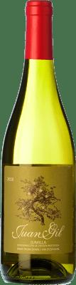6,95 € Kostenloser Versand | Weißwein Juan Gil Moscatel Seco D.O. Jumilla Kastilien-La Mancha Spanien Muscat von Alexandria Flasche 75 cl | Tausende von Weinliebhabern vertrauen darauf, dass wir eine Garantie des besten Preises, stets versandkostenfrei, und Kauf und Rückgabe ohne Komplikationen liefern.
