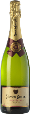 12,95 € Free Shipping | White sparkling Juvé y Camps Cinta Púrpura Brut Reserva D.O. Cava Catalonia Spain Macabeo, Xarel·lo, Parellada Bottle 75 cl | Thousands of wine lovers trust us to get the best price guarantee, free shipping always and hassle-free shopping and returns.