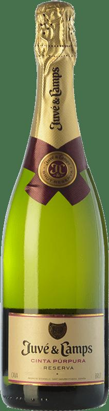 13,95 € Free Shipping | White sparkling Juvé y Camps Cinta Púrpura Brut Reserva D.O. Cava Catalonia Spain Macabeo, Xarel·lo, Parellada Bottle 75 cl