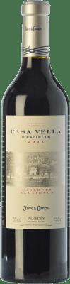 22,95 € Free Shipping | Red wine Juvé y Camps Casa Vella d'Espiells Crianza D.O. Penedès Catalonia Spain Cabernet Sauvignon Magnum Bottle 1,5 L