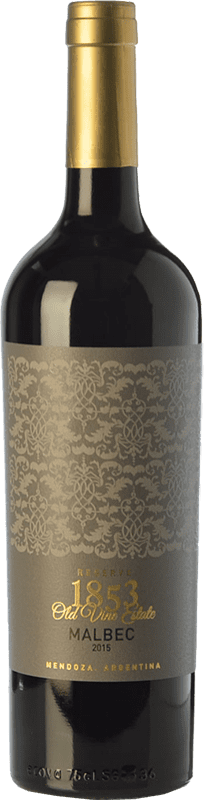14,95 € Free Shipping | Red wine Kauzo 1853 Reserve Reserva I.G. Valle de Uco Uco Valley Argentina Malbec Bottle 75 cl