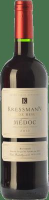 14,95 € Kostenloser Versand | Rotwein Kressmann Grande Réserve Gran Reserva A.O.C. Médoc Bordeaux Frankreich Merlot, Cabernet Sauvignon Flasche 75 cl