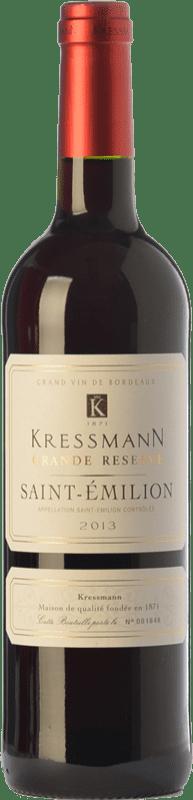 15,95 € Free Shipping | Red wine Kressmann Grande Réserve Gran Reserva A.O.C. Saint-Émilion Bordeaux France Merlot, Cabernet Sauvignon, Cabernet Franc Bottle 75 cl