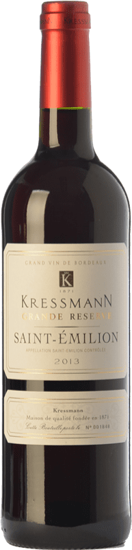 14,95 € Envío gratis   Vino tinto Kressmann Grande Réserve Gran Reserva A.O.C. Saint-Émilion Burdeos Francia Merlot, Cabernet Sauvignon, Cabernet Franc Botella 75 cl