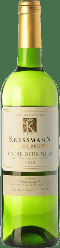 6,95 € Envío gratis   Vino blanco Kressmann Grande Réserve A.O.C. Entre-deux-Mers Burdeos Francia Sauvignon Blanca, Sémillon, Muscadelle Botella 75 cl