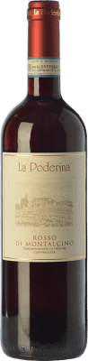 17,95 € Free Shipping | Red wine La Poderina D.O.C. Rosso di Montalcino Tuscany Italy Sangiovese Bottle 75 cl