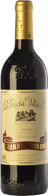 143,95 € Free Shipping | Red wine Rioja Alta 890 Gran Reserva 2004 D.O.Ca. Rioja The Rioja Spain Tempranillo, Graciano, Mazuelo Bottle 75 cl. | Thousands of wine lovers trust us to get the best price guarantee, free shipping always and hassle-free shopping and returns.