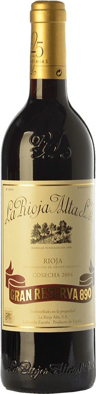 151,95 € Free Shipping | Red wine Rioja Alta 890 Gran Reserva 2004 D.O.Ca. Rioja The Rioja Spain Tempranillo, Graciano, Mazuelo Bottle 75 cl