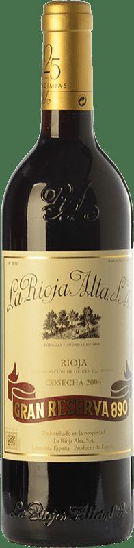 149,95 € Envoi gratuit | Vin rouge Rioja Alta 890 Gran Reserva 2004 D.O.Ca. Rioja La Rioja Espagne Tempranillo, Graciano, Mazuelo Bouteille 75 cl