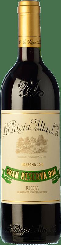 45,95 € Envío gratis | Vino tinto Rioja Alta 904 Gran Reserva D.O.Ca. Rioja La Rioja España Tempranillo, Graciano Botella 75 cl