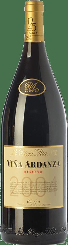 53,95 € Envío gratis | Vino tinto Rioja Alta Viña Ardanza Reserva 2008 D.O.Ca. Rioja La Rioja España Tempranillo, Garnacha Botella Mágnum 1,5 L