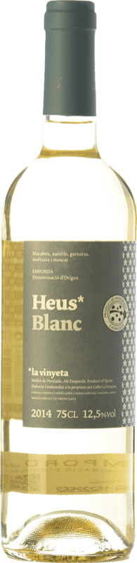 7,95 € Envoi gratuit | Vin blanc La Vinyeta Heus Blanc D.O. Empordà Catalogne Espagne Grenache Blanc, Muscat d'Alexandrie, Macabeo, Xarel·lo Bouteille 75 cl