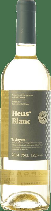 7,95 € Free Shipping | White wine La Vinyeta Heus Blanc D.O. Empordà Catalonia Spain Grenache White, Muscat of Alexandria, Macabeo, Xarel·lo Bottle 75 cl