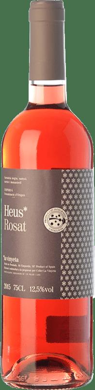 7,95 € Free Shipping | Rosé wine La Vinyeta Heus Rosat D.O. Empordà Catalonia Spain Merlot, Syrah, Grenache, Samsó Bottle 75 cl