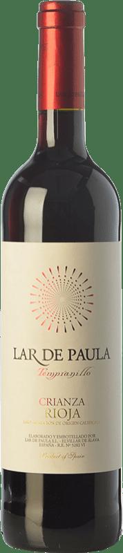 7,95 € Free Shipping | Red wine Lar de Paula Crianza D.O.Ca. Rioja The Rioja Spain Tempranillo Bottle 75 cl