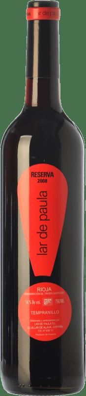 14,95 € Free Shipping | Red wine Lar de Paula Reserva D.O.Ca. Rioja The Rioja Spain Tempranillo Bottle 75 cl