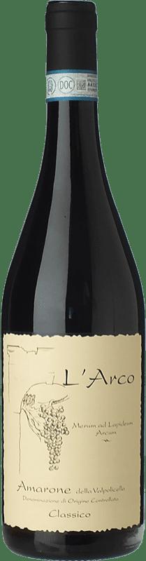 53,95 € Free Shipping | Red wine L'Arco Vini D.O.C.G. Amarone della Valpolicella Veneto Italy Corvina, Rondinella, Molinara Bottle 75 cl