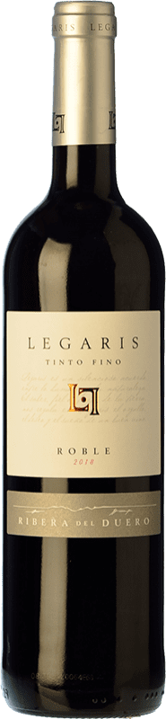8,95 € Free Shipping | Red wine Legaris Roble Joven D.O. Ribera del Duero Castilla y León Spain Tempranillo Bottle 75 cl