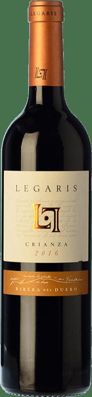 14,95 € Free Shipping | Red wine Legaris Crianza D.O. Ribera del Duero Castilla y León Spain Tempranillo, Cabernet Sauvignon Bottle 75 cl