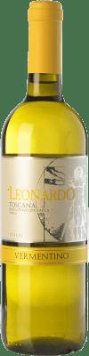 9,95 € Free Shipping   White wine Leonardo da Vinci Leonardo I.G.T. Toscana Tuscany Italy Vermentino Bottle 75 cl
