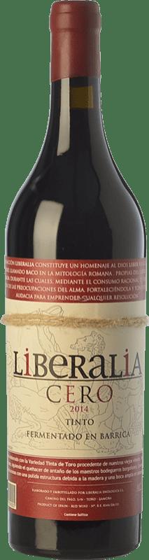 13,95 € Free Shipping | Red wine Liberalia Cero Crianza D.O. Toro Castilla y León Spain Tinta de Toro Bottle 75 cl