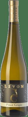 13,95 € Free Shipping | White wine Livon Pinot Grigio D.O.C. Collio Goriziano-Collio Friuli-Venezia Giulia Italy Pinot Grey Bottle 75 cl