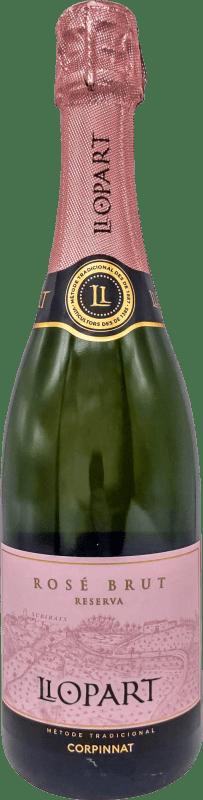 17,95 € Free Shipping | Rosé sparkling Llopart Rosé Brut Reserva D.O. Cava Catalonia Spain Grenache, Monastrell, Pinot Black Bottle 75 cl