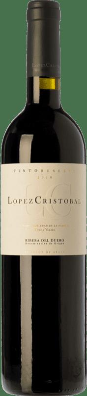22,95 € Envío gratis | Vino tinto López Cristóbal Reserva D.O. Ribera del Duero Castilla y León España Tempranillo, Merlot Botella 75 cl