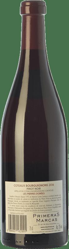 Red wine Louis Latour Les Pierres Dorées Joven A.O.C. Côtes de Bourg Bordeaux France Pinot Black Bottle 75 cl