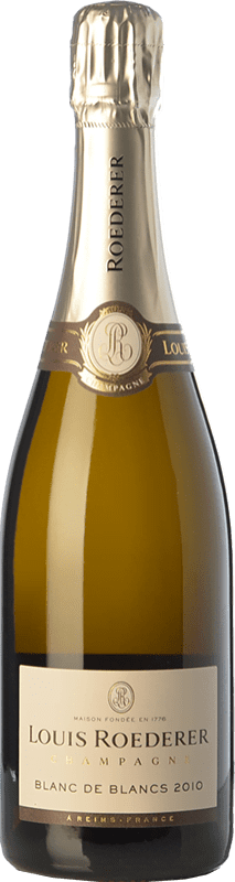 94,95 € Free Shipping | White sparkling Louis Roederer Blanc de Blancs Gran Reserva 2010 A.O.C. Champagne Champagne France Chardonnay Bottle 75 cl