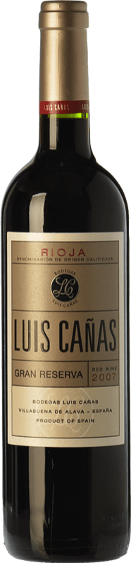 28,95 € Envoi gratuit | Vin rouge Luis Cañas Gran Reserva D.O.Ca. Rioja La Rioja Espagne Tempranillo, Graciano Bouteille 75 cl