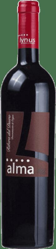 11,95 € Free Shipping | Red wine Lynus Alma López Crianza D.O. Ribera del Duero Castilla y León Spain Tempranillo Bottle 75 cl