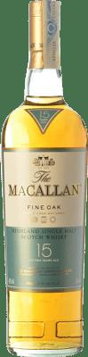 107,95 € Free Shipping | Whisky Single Malt Macallan Fine Oak 15 Speyside United Kingdom Bottle 70 cl