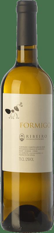 8,95 € Free Shipping | White wine Formigo D.O. Ribeiro Galicia Spain Torrontés, Godello, Loureiro, Palomino Fino, Treixadura, Albariño Bottle 75 cl