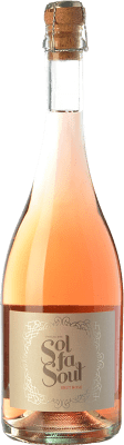 8,95 € Free Shipping | Rosé sparkling Pelleriti Sol Fa Soul Espumante Rose Brut I.G. Valle de Uco Uco Valley Argentina Cabernet Sauvignon, Malbec Bottle 75 cl