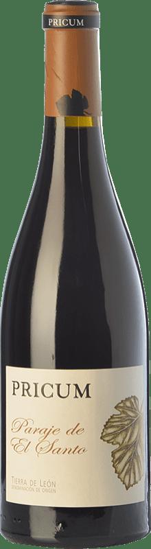 31,95 € Envío gratis | Vino tinto Margón Pricum Paraje de El Santo Crianza D.O. León Castilla y León España Prieto Picudo Botella 75 cl