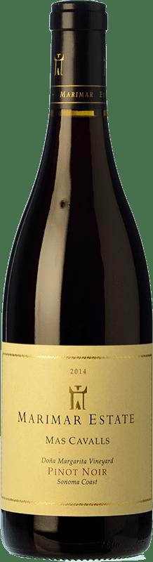45,95 € Free Shipping | Red wine Marimar Estate Mas Cavalls Crianza I.G. Sonoma Coast Sonoma Coast United States Pinot Black Bottle 75 cl