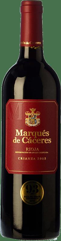 9,95 € Free Shipping | Red wine Marqués de Cáceres Crianza D.O.Ca. Rioja The Rioja Spain Tempranillo, Grenache, Graciano Magnum Bottle 1,5 L