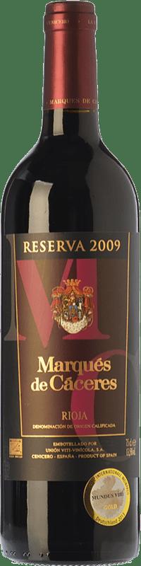 13,95 € Free Shipping | Red wine Marqués de Cáceres Reserva D.O.Ca. Rioja The Rioja Spain Tempranillo, Grenache, Graciano Magnum Bottle 1,5 L
