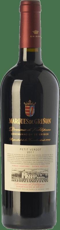 21,95 € Envío gratis | Vino tinto Marqués de Griñón Crianza D.O.P. Vino de Pago Dominio de Valdepusa Castilla la Mancha España Petit Verdot Botella 75 cl