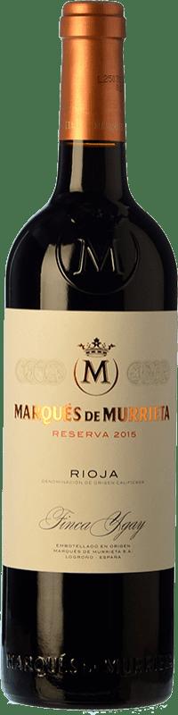 18,95 € Envío gratis | Vino tinto Marqués de Murrieta Reserva D.O.Ca. Rioja La Rioja España Tempranillo, Garnacha, Graciano, Mazuelo Botella 75 cl