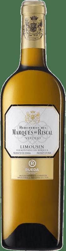16,95 € Free Shipping | White wine Marqués de Riscal Limousin Crianza D.O. Rueda Castilla y León Spain Verdejo Bottle 75 cl