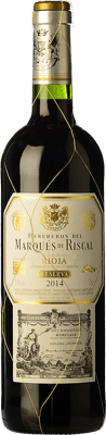 14,95 € Free Shipping | Red wine Marqués de Riscal Reserva D.O.Ca. Rioja The Rioja Spain Tempranillo, Graciano, Mazuelo Bottle 75 cl | Thousands of wine lovers trust us to get the best price guarantee, free shipping always and hassle-free shopping and returns.