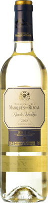 7,95 € Free Shipping | White wine Marqués de Riscal D.O. Rueda Castilla y León Spain Verdejo Bottle 75 cl | Thousands of wine lovers trust us to get the best price guarantee, free shipping always and hassle-free shopping and returns.